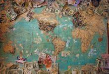 השקעה פאסיבית - פיזור עולמי - מפת כדור הארץ וכסף